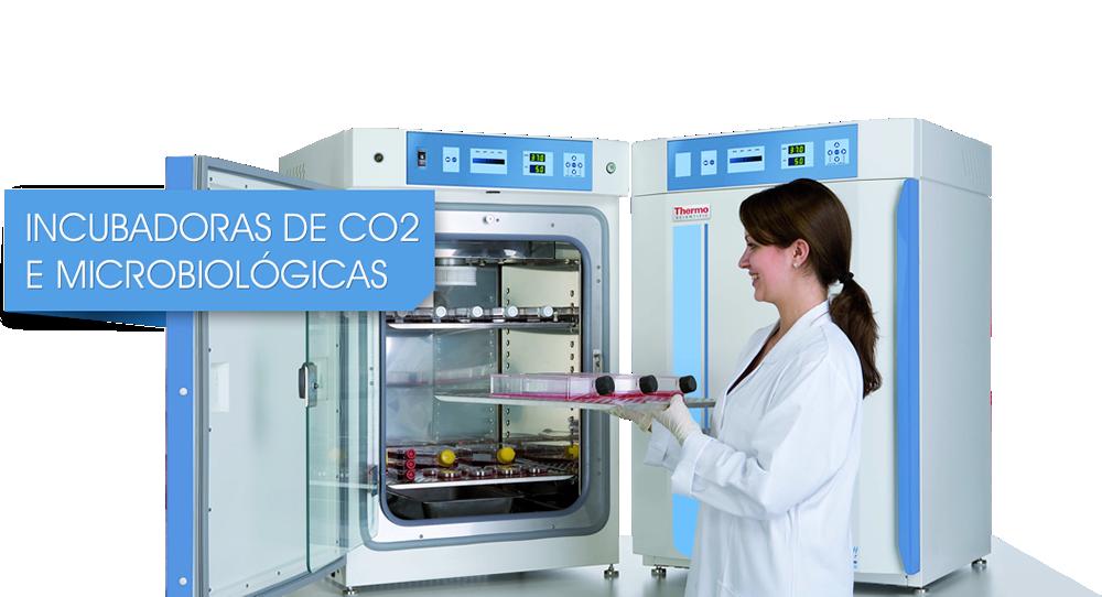 Incubadoras de CO2 e microbiológicas